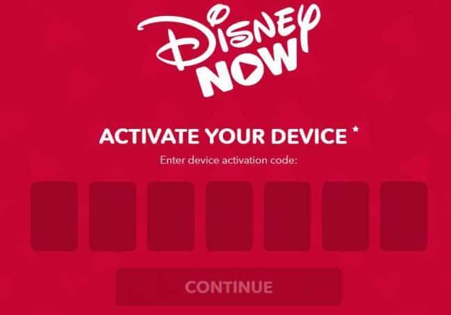 disneynow activate