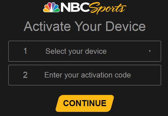 Activate NBC Sport